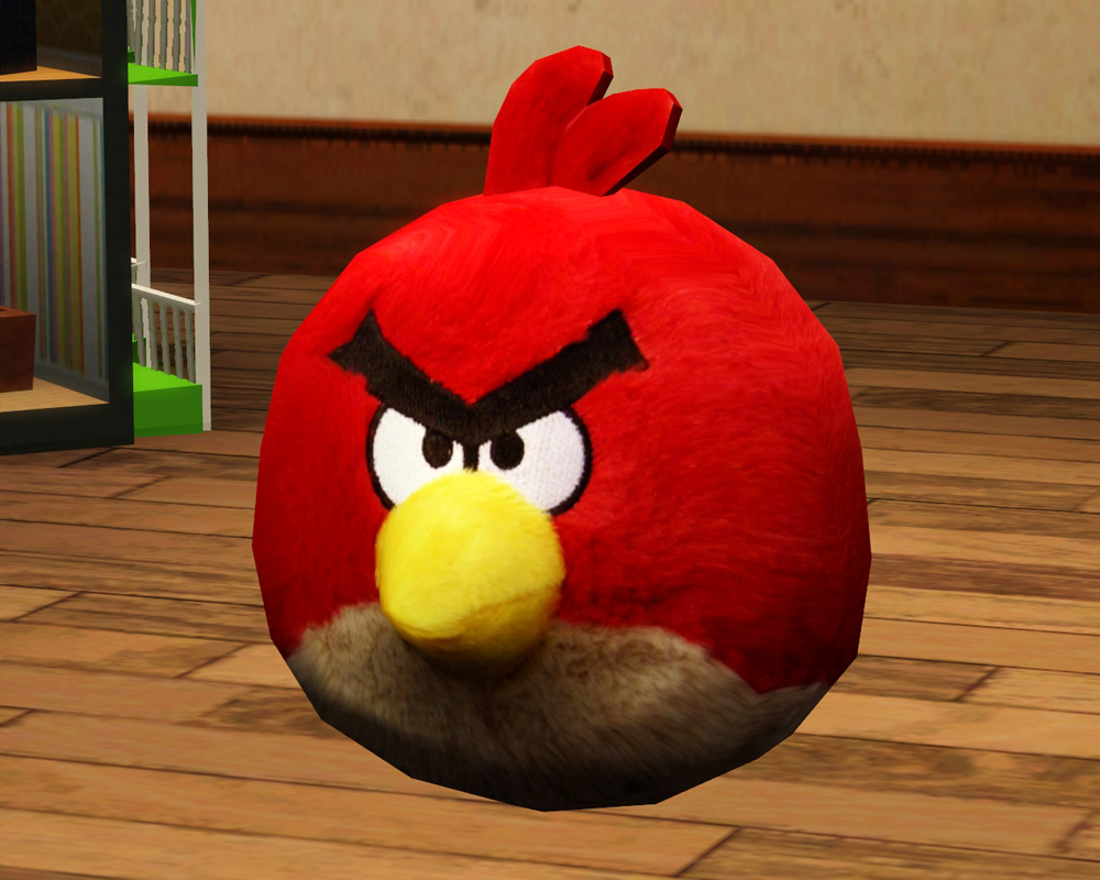 All Angry Birds Plush Toys : Mod the sims angry birds plush toy