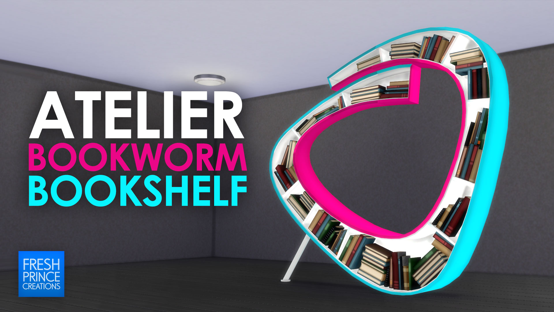 mod the sims  atelier bookworm bookshelf - advertisement