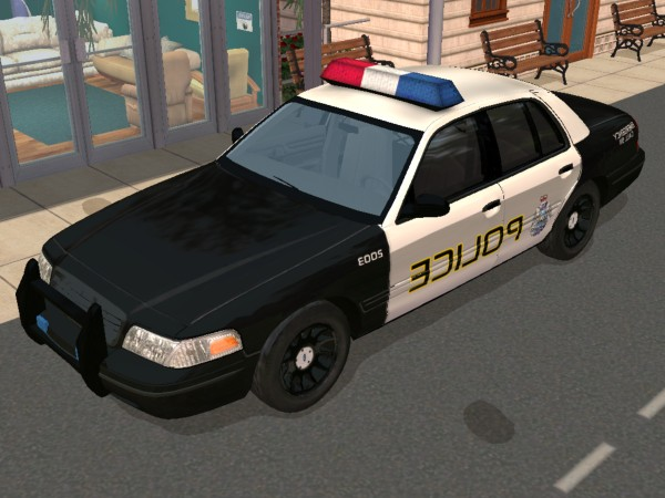 mod the sims 2003 ford crown victoria police car. Black Bedroom Furniture Sets. Home Design Ideas