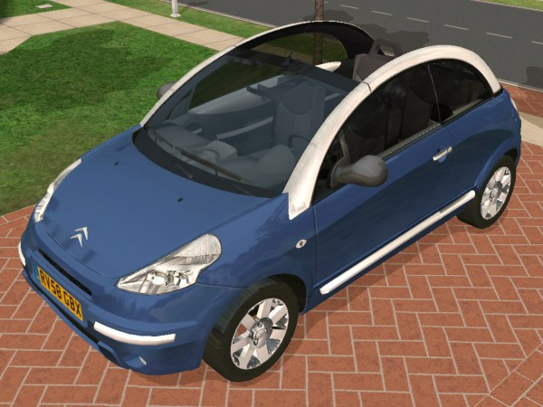 mod the sims 2004 citroen c3 pluriel. Black Bedroom Furniture Sets. Home Design Ideas
