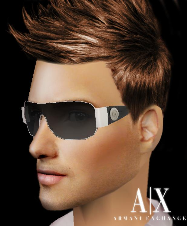Armani Exchange Sunglasses For  mod the sims armani exchange sunglasses am