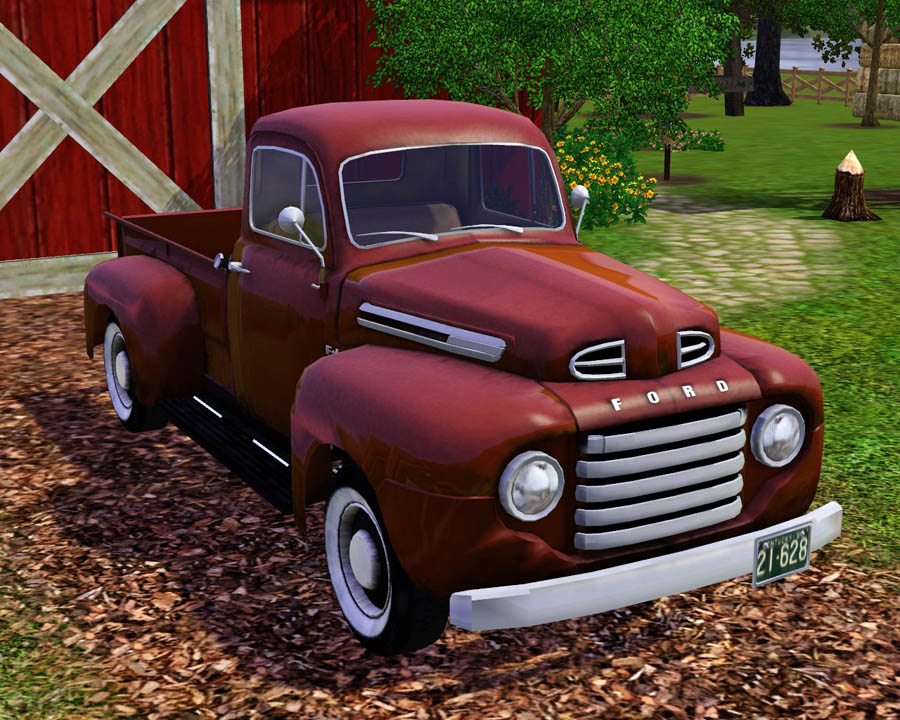 mod the sims 1950 ford f 1 pick up truck. Black Bedroom Furniture Sets. Home Design Ideas