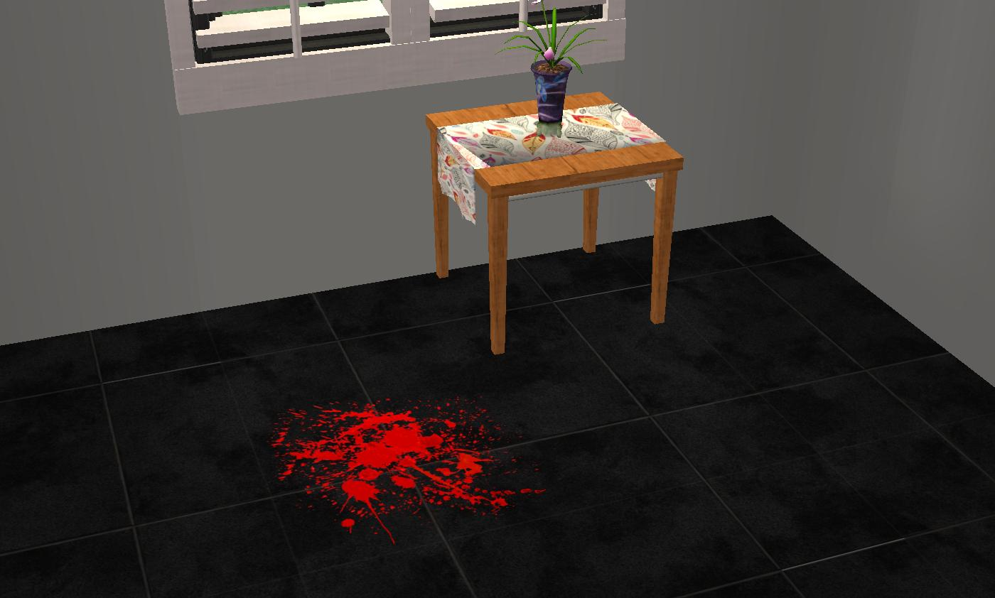 mod the sims blood spatter floor overlay. Black Bedroom Furniture Sets. Home Design Ideas
