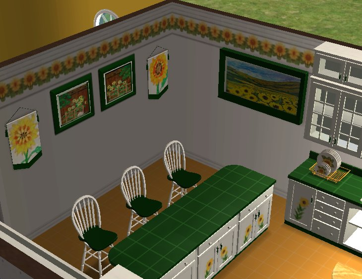 Mod The Sims - Testers wanted: Sunflower Kitchen (Several new mesh