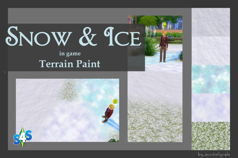 mod the sims snow ice terrain paint