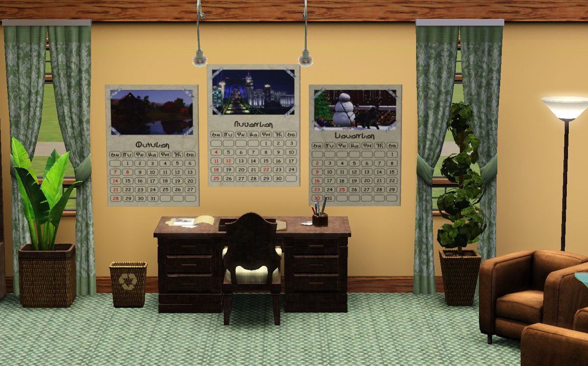 Mod The Sims - Sims 3 Landscape Calendars 2012