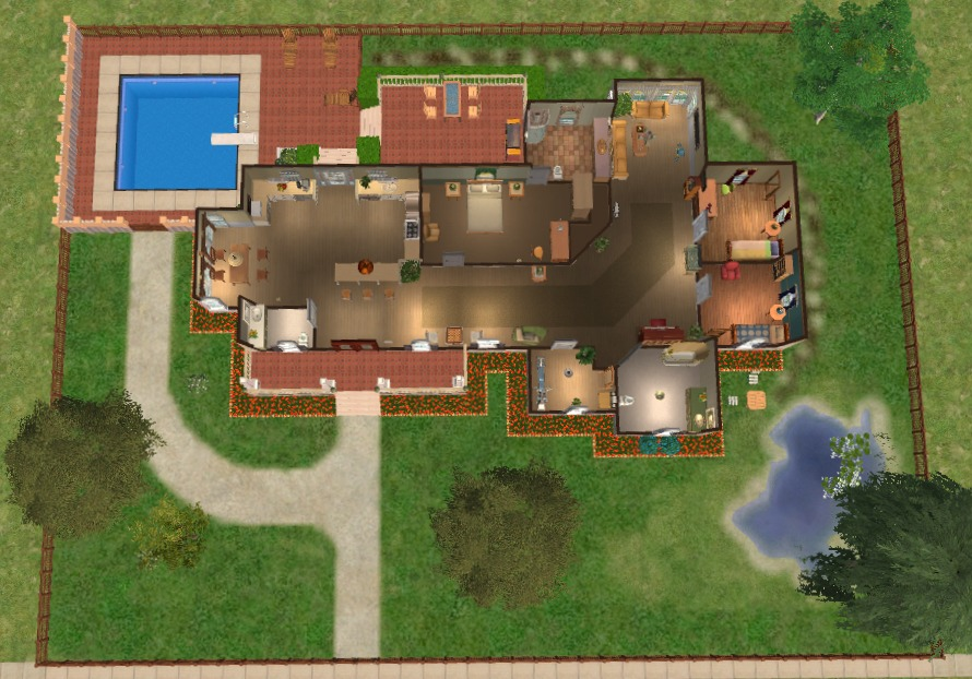 Mod The Sims Pippenville 1 One Story Three Bedroom