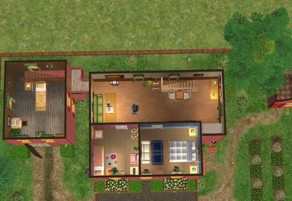 Mod the sims golden glade family farm a two story - House with a view ...