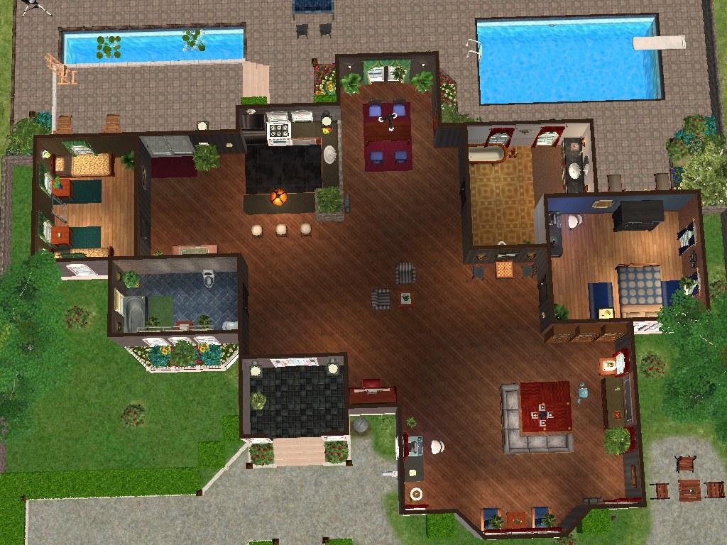 Mod the sims crystal cloud avenue a single story house Find a house