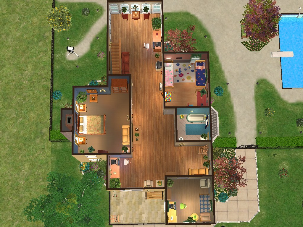 Mod The Sims Sunny Spring Gardens A Two Story House