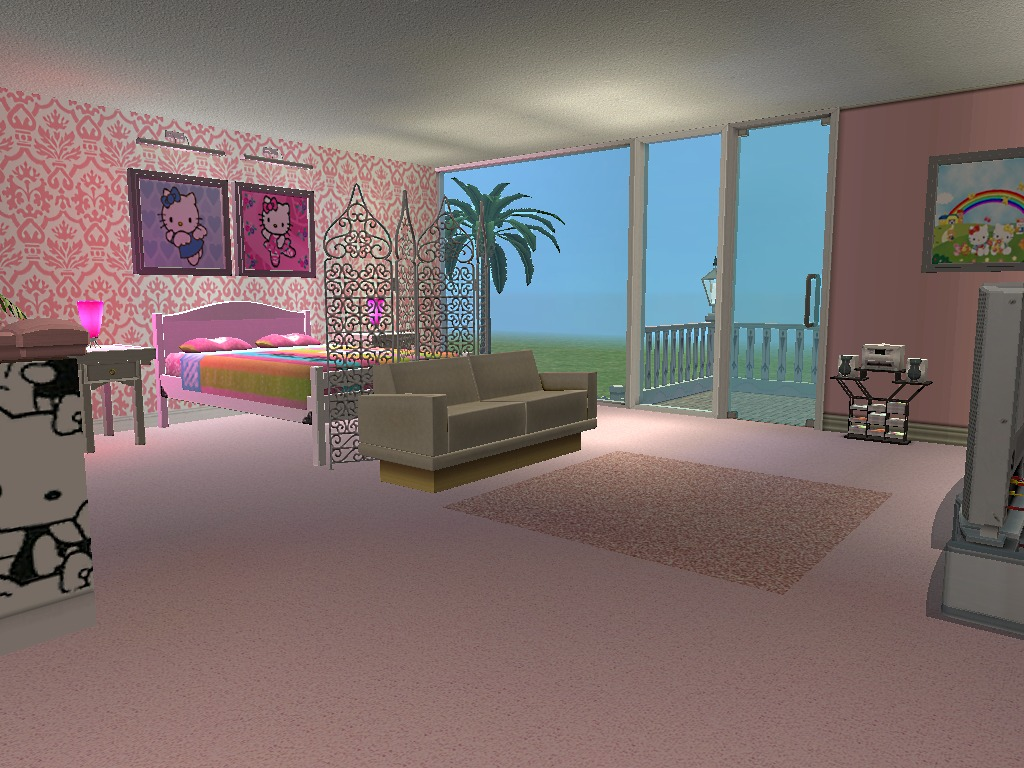 Mod The Sims Hello Kitty House Requested One Bedroom