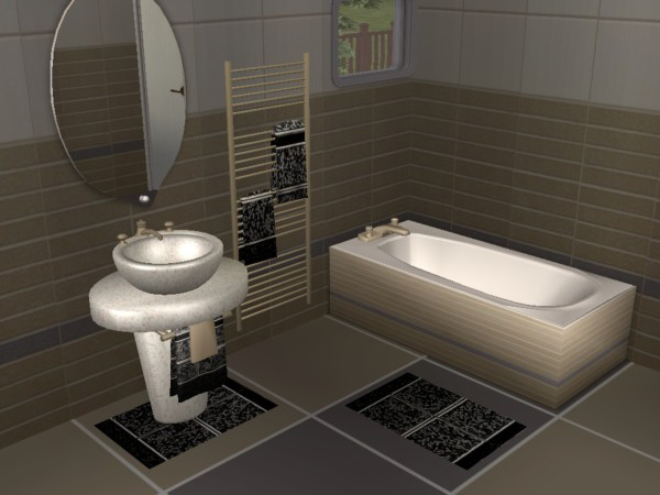 Mod The Sims Modern Bathroom New Meshes