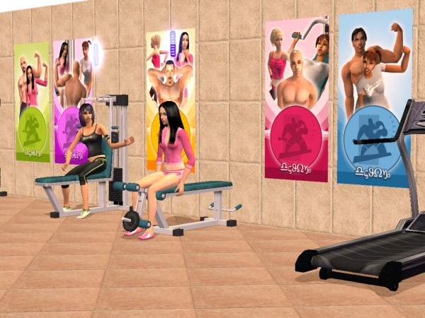 Mod the sims gym posters