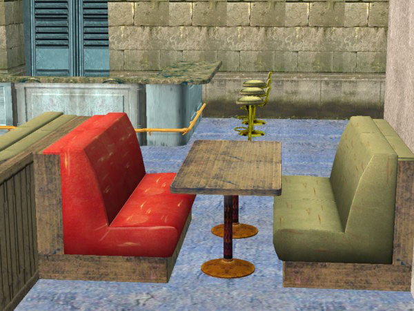 Mod The Sims Diner Table And Sectional Seating
