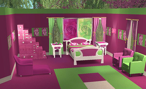 Mod The Sims - Testers Wanted - *Yummy Lime & Pink Bedroom ...
