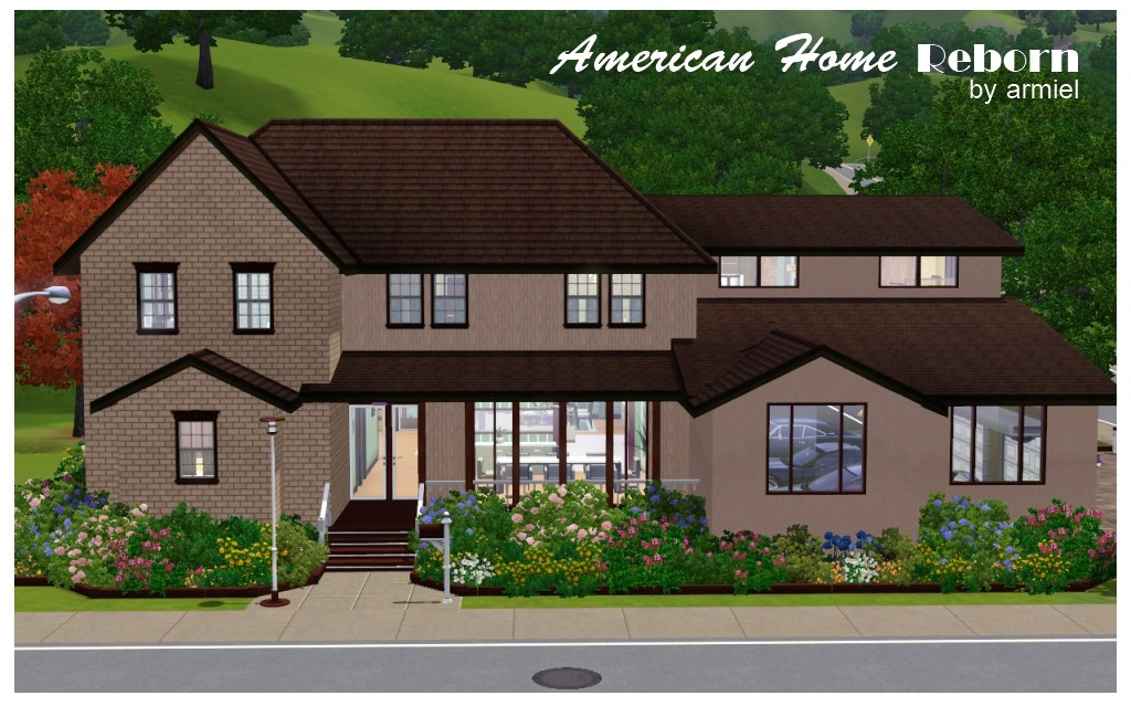 Mod the sims american home reborn for American house construction