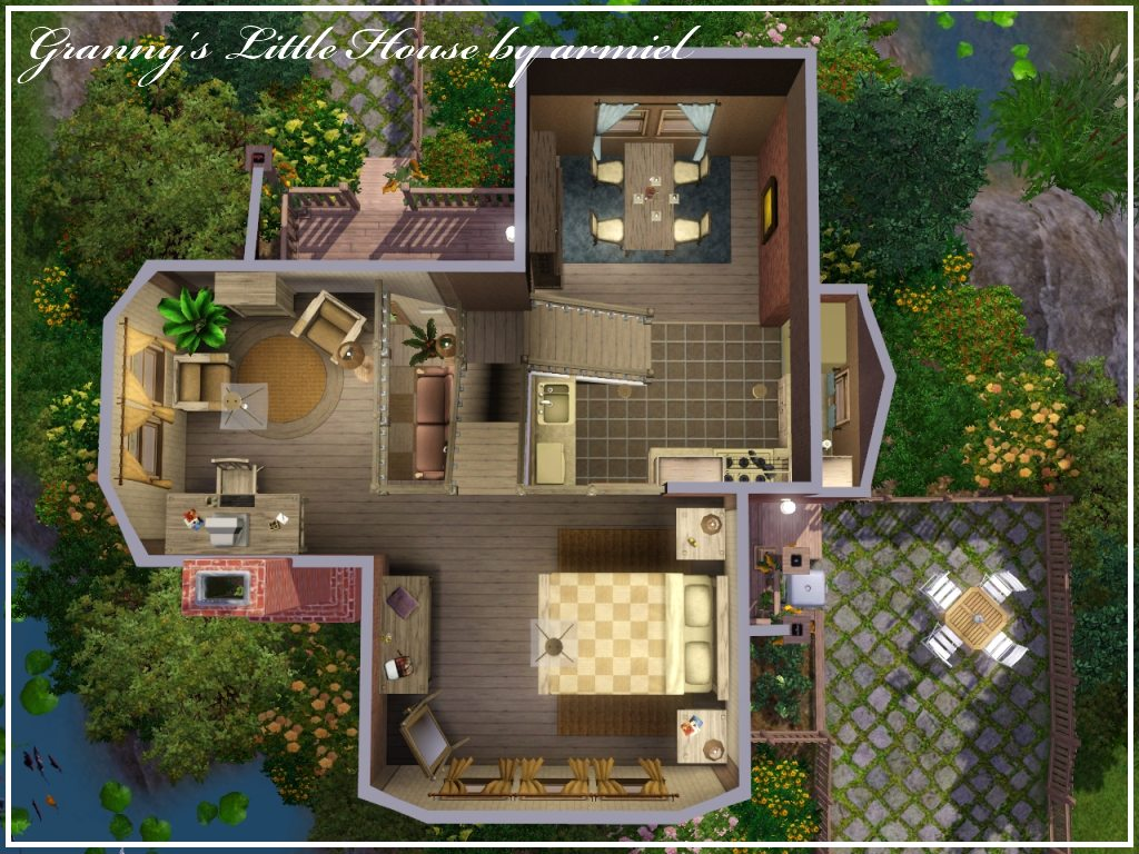 Mod the sims granny 39 s little house for Little house