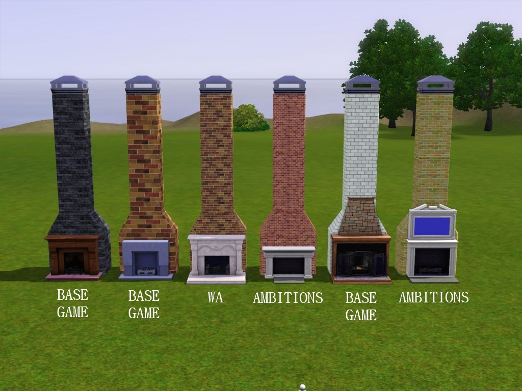 mod the sims cast yourself a chimney