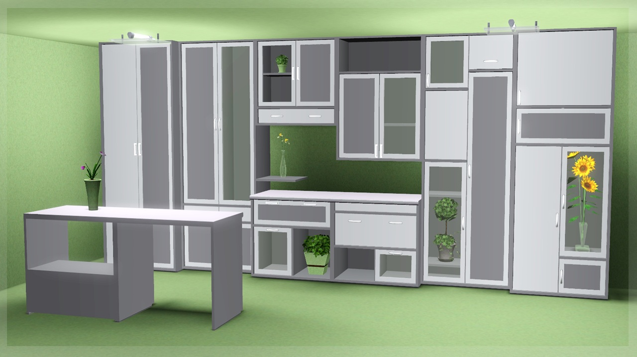 Mod the sims buy set diy for Cc kitchen cabinets