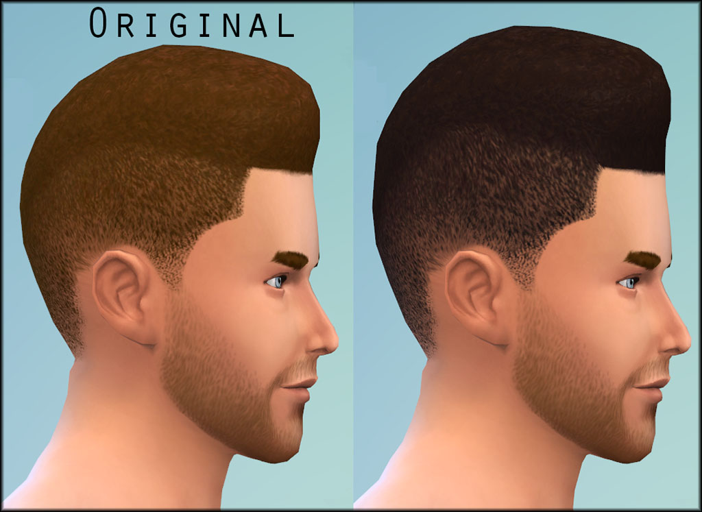Mod The Sims Higher Flattop Hair For Males