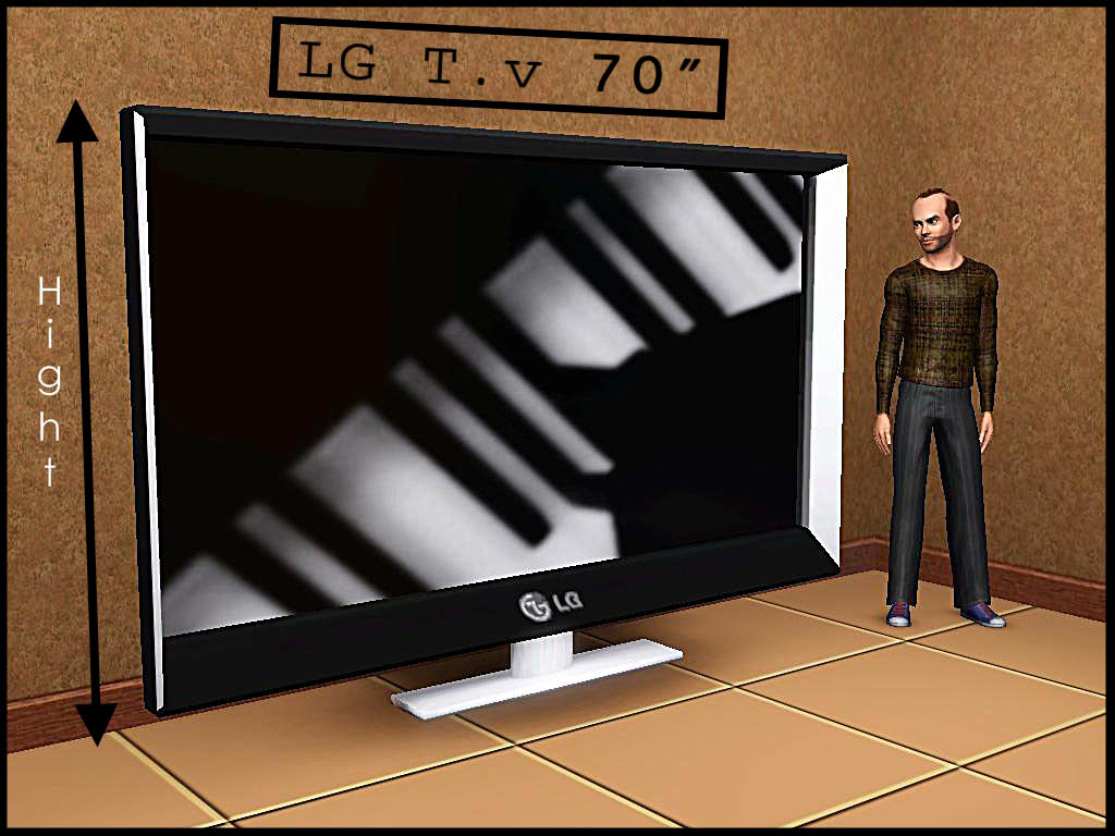mod the sims 3 lg plasma tv 39 s 46 58 70 new meshes. Black Bedroom Furniture Sets. Home Design Ideas