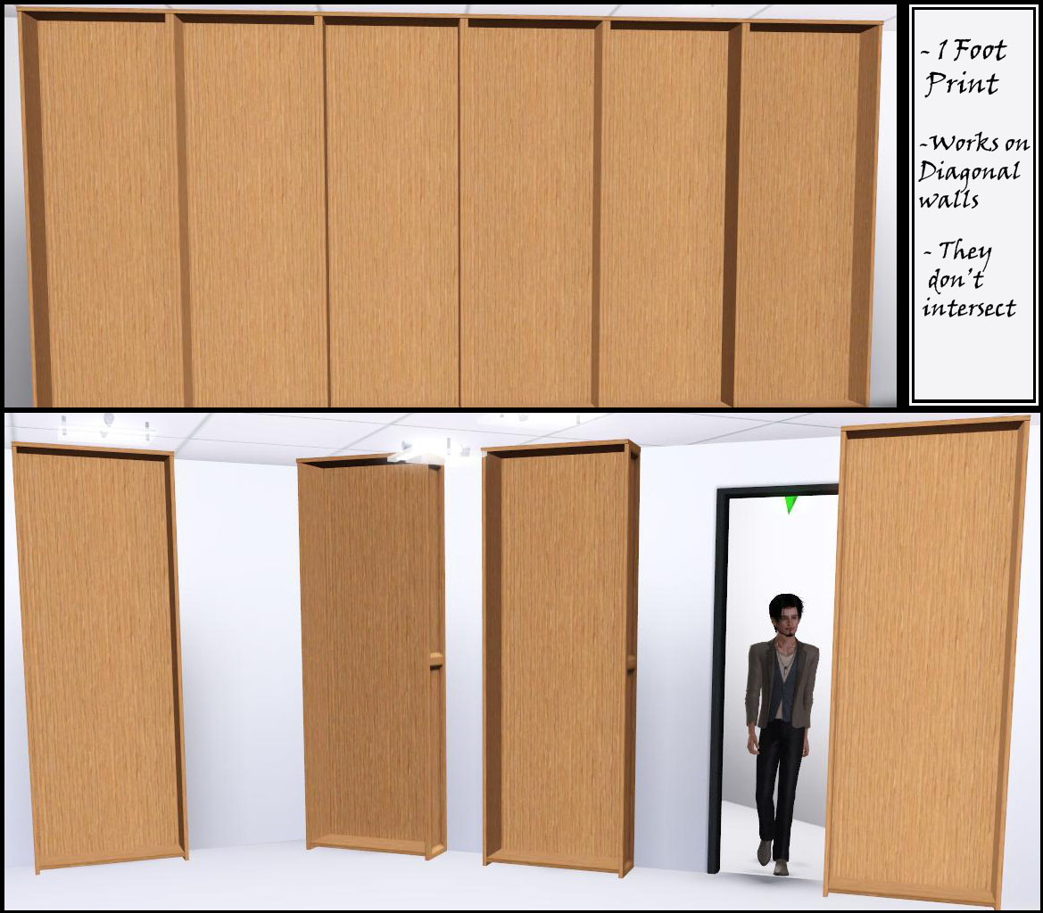 Mod The Sims Sliding Bookcase Quot Hidden Door Quot Up To 27