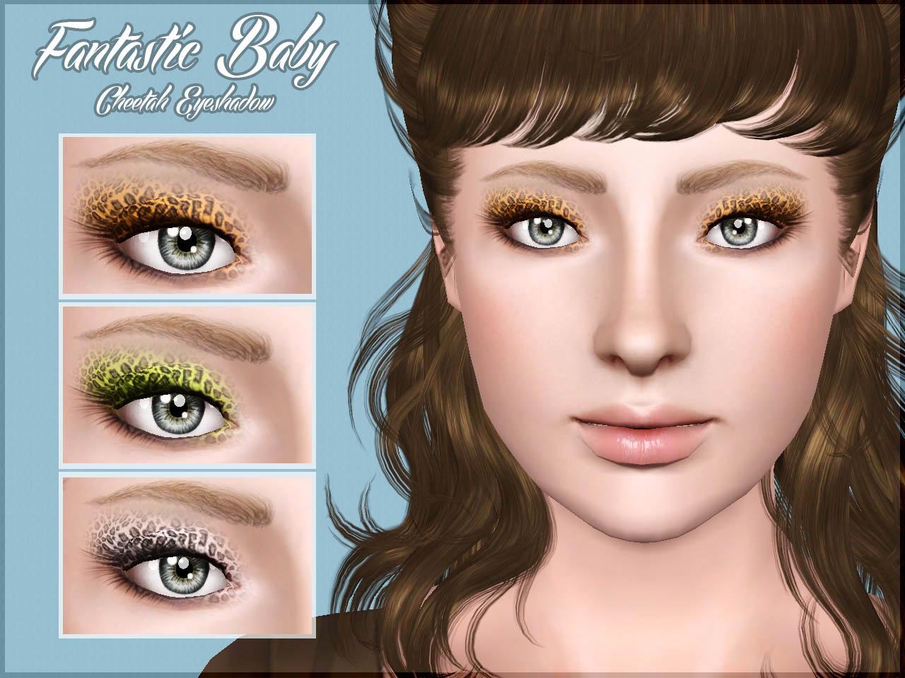 Mod The Sims Fantastic Baby Cheetah Eyeshadow Yaa
