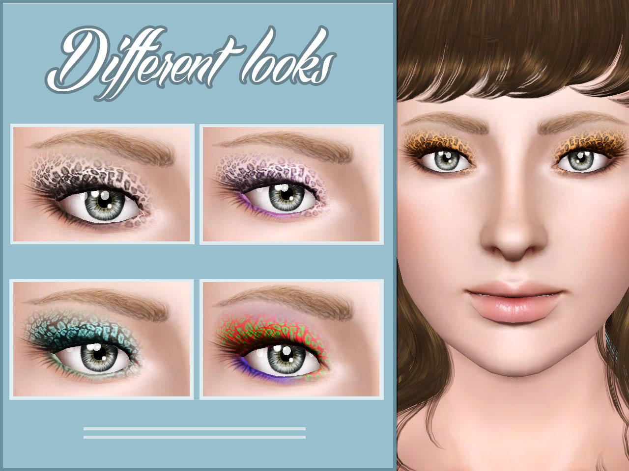 Mod The Sims Fantastic Baby Cheetah Eyeshadow Yaa
