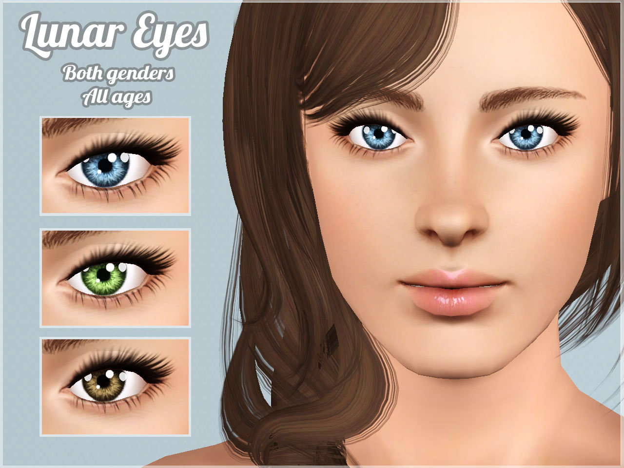"""Mod The Sims - """"Lunar Eyes"""" - Contacts for all Sims"""
