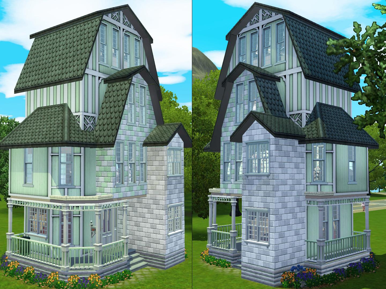 Mod The Sims - Peppermint - 10x10 Mini doll house (No CC)