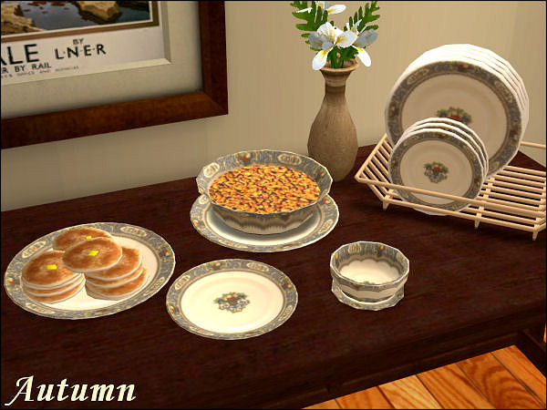 x & Mod The Sims - New Default Replacement Dishes with Matching Dishracks!