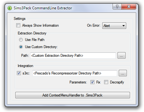 sims3pack multi extracter/installer