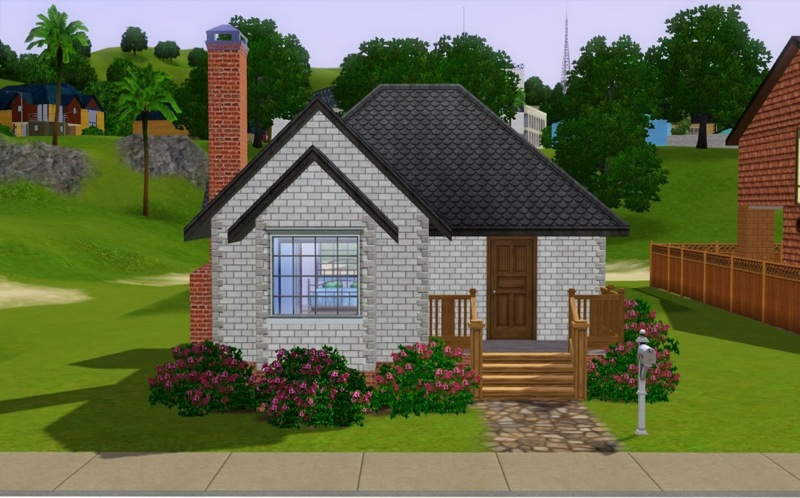 Mod the sims shabby chic starter for Minimalist house the sims 3