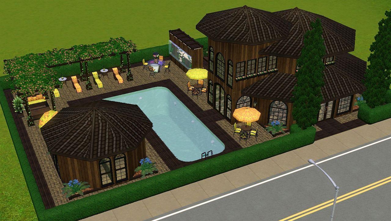 Mod The Sims Umbrella Poolside Club