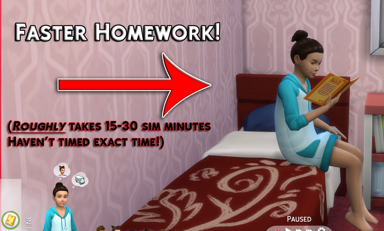 Sims 2 homework cheat