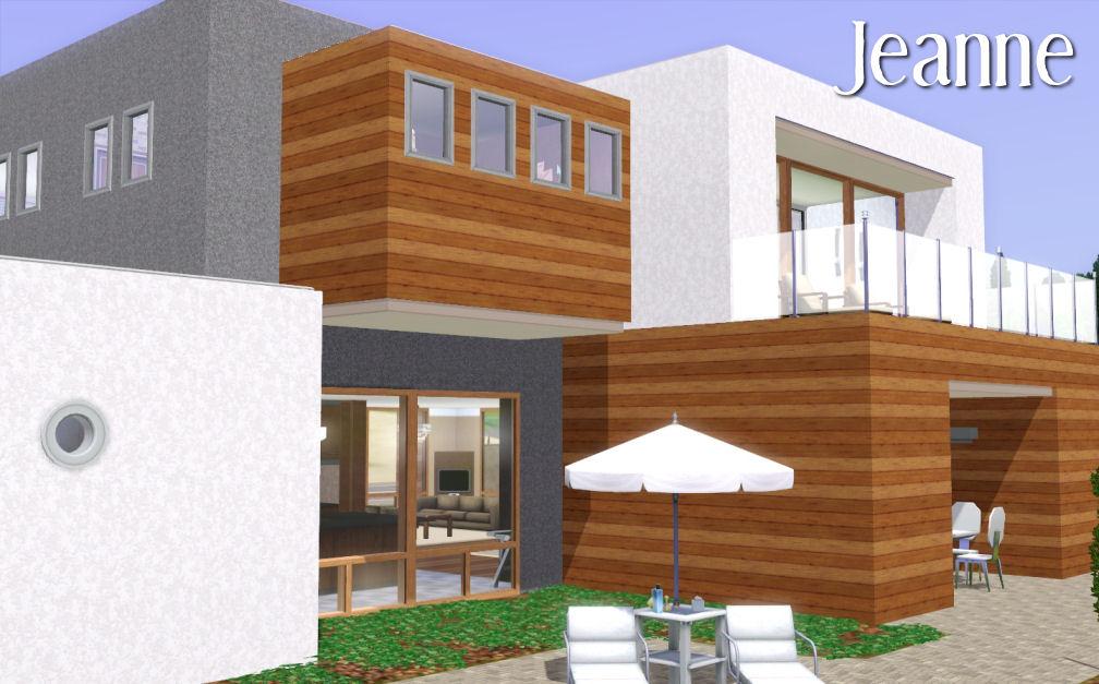 Mod the sims jeanne une maison moderne for Une maison moderne