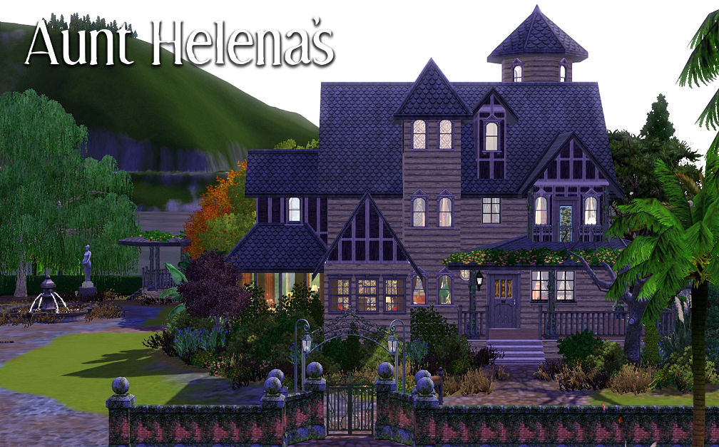 mod the sims - aunt helena's - a gothic victorian house