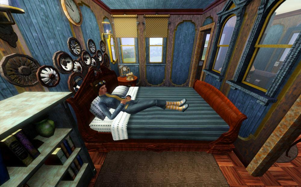Steampunk themed bedroom the image kid has it - Steampunk bedroom ideas ...
