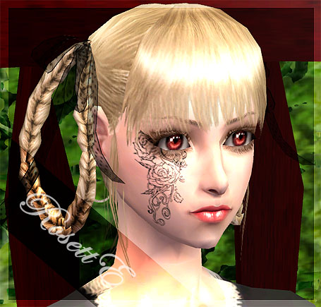 Mod The Sims - [RosettE] Gothic Facial Tattoo