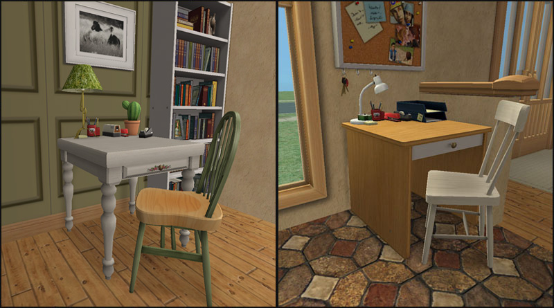 Mod The Sims One Tile Desks Variety Pack
