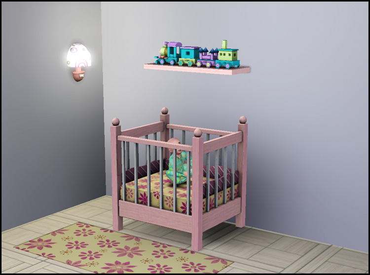 "Mod The Sims - ""Little Sister"" crib 1-tile"