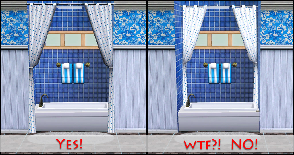 Wall To Wall Curtains : Mod the sims curtains stop snapping to that wall