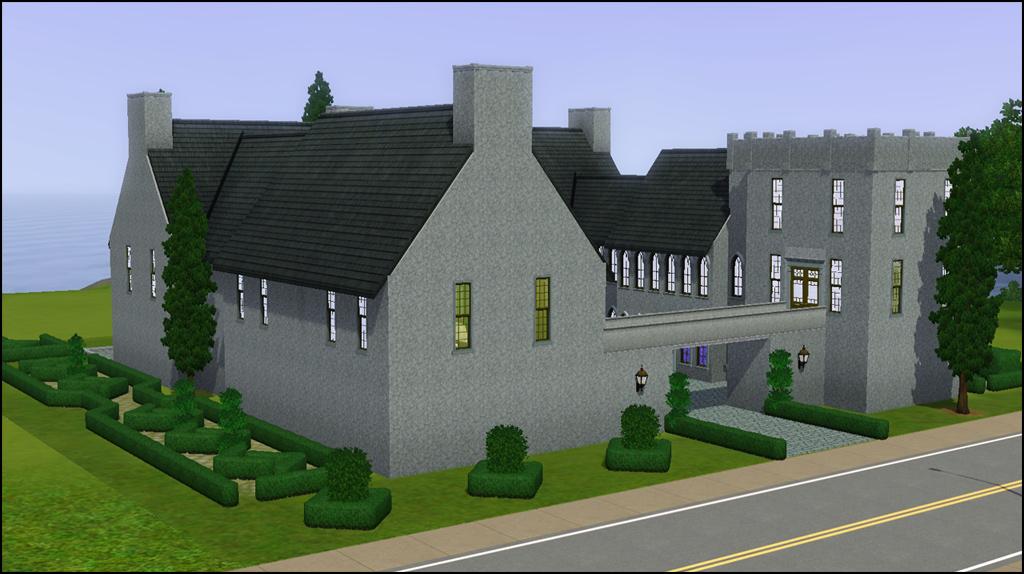 Darien castle house plan for Castle house design