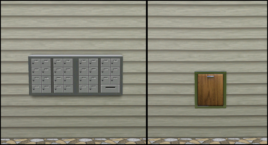 Mod The Sims - Late Night - Buyable Mailbox and Trash Chute