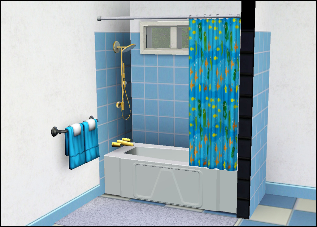 Mod the sims simple shower tub - Bathtub in shower ...
