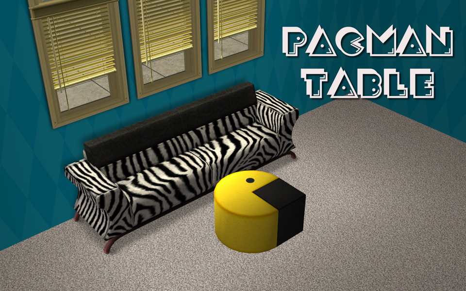 mod the sims - pac-man coffee table