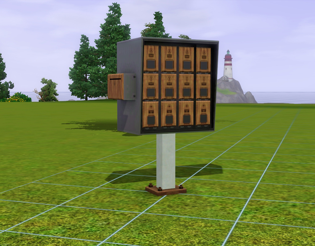 mod the sims apartment mailbox
