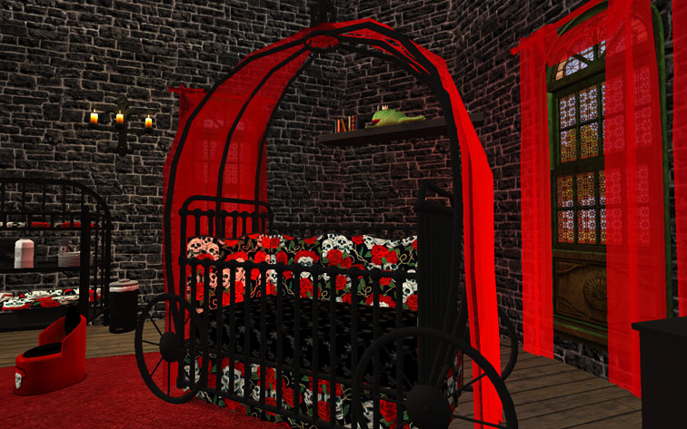 Mod The Sims - Gothic Princess Nursery and Child/Teen Room