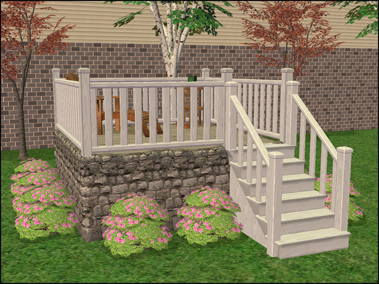Mod the sims modular stairs fence gate column add ons for Prefab columns