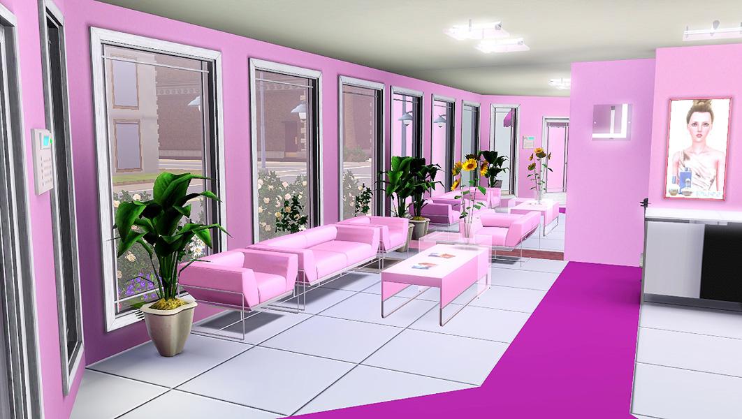 Mod the sims madame jojo 39 s beauty salon for Hair salon floor plans download